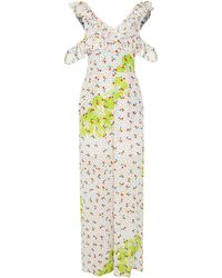 All Things Mochi Hala Silk Printed Jumpsuit - White