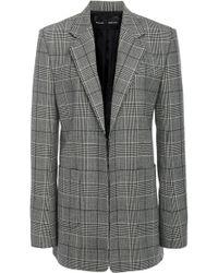 Proenza Schouler - Plaid Pocketed Wool-blend Blazer - Lyst