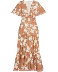 Johanna Ortiz - Tea House Floral Cotton Dress - Lyst