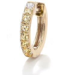 Robinson Pelham 14k Yellow Gold Diamond & Yellow Sapphire Large Orb Hoop