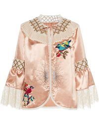 Anna Sui - Judy's Nudies Satin Cover-up - Lyst