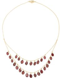 Renee Lewis - 18k Gold Garnet Necklace - Lyst