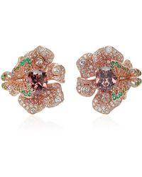 Anabela Chan Rose Peony Earrings