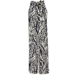Veronica Beard Curtis Printed Wide-leg Pyjama Trousers - Black