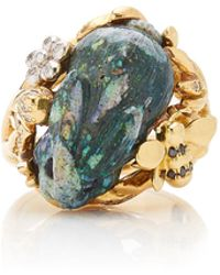Mimi So - 18k Gold, Opal And Diamond Ring - Lyst