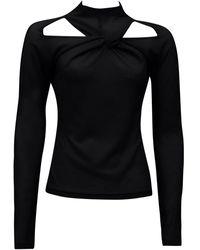 Rejina Pyo Maia Cutout Jersey-knit Top - Black