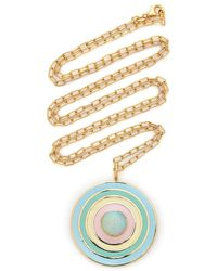 Sig Ward 18k Gold, Opal And Enamel Necklace - Metallic