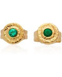 Octavia Elizabeth - 18k Gold Emerald Earrings - Lyst