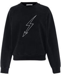 Givenchy - Lightening Bolt Cotton-jersey Sweatshirt - Lyst