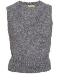 Michael Kors Cable-knit Jumper Vest - Grey