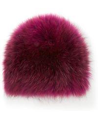 Yestadt Millinery - Le Fluff Fox Fur Beanie - Lyst