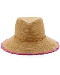 Eric Javits Mykonos Fringed Sun Hat - Natural