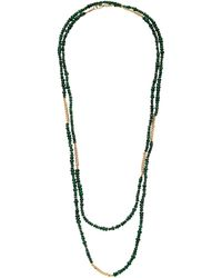 Objet-a Anton 18k Gold And Emerald Necklace - Green