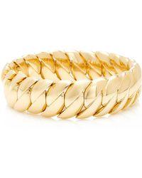 Sidney Garber - Wave Yellow Gold Bracelet - Lyst