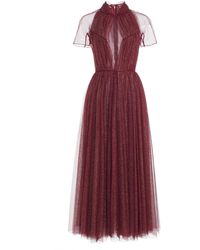 Emilia Wickstead Gabriel Gathered Glittered Tulle Cocktail Dress