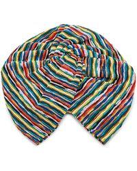Missoni - Striped Crochet-knit Headwrap - Lyst