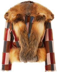 J. Mendel | Reversible Patchwork Mink Jacket | Lyst