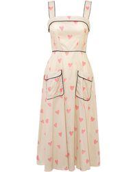 Anna Mason Bergman Sleeveless Cotton Dress - Multicolour