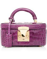 Stalvey Exclusive Alligator Mini Beauty Case - Purple
