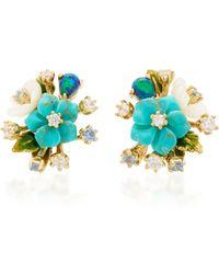 Anabela Chan - Turquoise Bouquet Earrings - Lyst