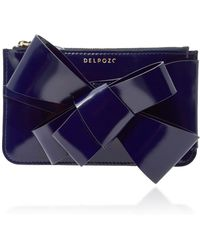Delpozo   M'o Exclusive Bow-embellished Patent-leather Clutch   Lyst