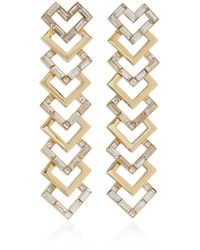Lulu Frost Adore Gold-plated And Crystal Earrings - Metallic