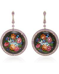 Axenoff Jewellery - Heartbreak Garden Silver Drop Earrings - Lyst