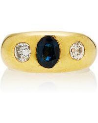 Toni + Chloë Goutal One-of-a-kind Gypsy Sapphire And Diamond Ring - Metallic