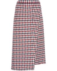 Mrz - Gingham Asymmetric Skirt - Lyst