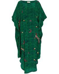 Chufy Kaf Abaya Embroidered Caftan - Green