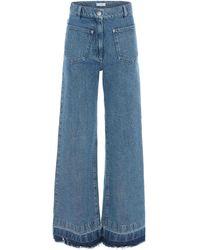 JW Anderson Released-hem Rigid High-rise Bootcut Jeans - Blue