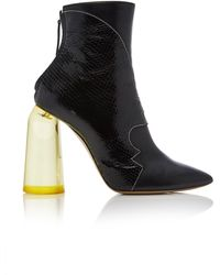 Ellery - High Heel Ankle Boot With Yellow Heel - Lyst