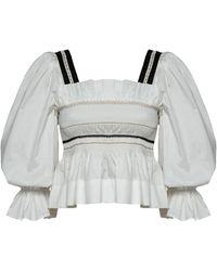 Lug Von Siga Elisa Embroidered Cotton Top - White