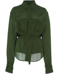 Jacquemus - La Chemise Enna Belted Cotton-voile Shirt - Lyst