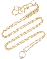 Delfina Delettrez - 18k Gold Diamond Necklace - Lyst