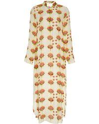 VERANDAH Floral-print Modal-blend Midi Dress - Multicolour