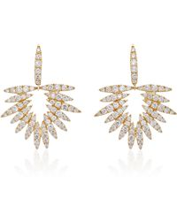 Hueb - Apus 18k Yellow Gold And Diamond Earrings - Lyst