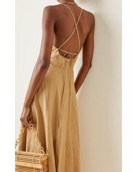 Mara Hoffman Verona Woven-hemp Midi Dress - Natural