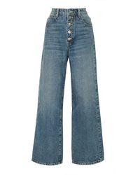 Eve Denim Charlotte High-rise Culotte Jeans - Blue