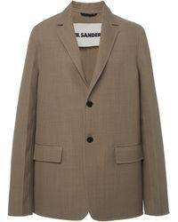 Jil Sander Major Wool-blend Blazer - Multicolour