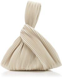 Nanushka Jen Pleated Vegan Leather Top-handle Bag - White