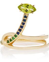 Bea Bongiasca   Gloriosa Lily 9k Rose Gold Multi-stone Ring   Lyst