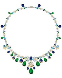 Anabela Chan Paradise Emerald 18k Gold Vermeil Necklace - Multicolour