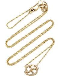 Sydney Evan - Pave Cancer Zodiac Sign Necklace - Lyst