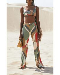 Cult Gaia Kersti Cutout Wide-leg Trousers - Multicolour