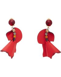Marni | Crystal-embellished Leather Earrings | Lyst