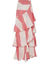 Johanna Ortiz - Tabasco Linen Skirt - Lyst