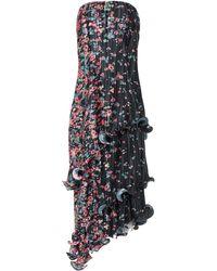 Givenchy Strapless Floral-print Plissé-crepe Midi Dress - Multicolour