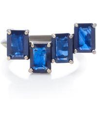 Jack Vartanian - Rhodium-plated 18k White Gold Sapphire Ring - Lyst