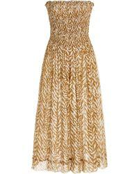 Cloe Cassandro Billie Silk Midi Dress - Multicolour